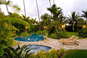 Tropical Backyards by Tropical Landscape Design Ideas Florida Bathroom Design