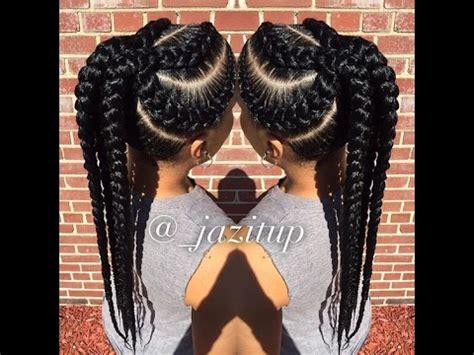 unique big cornrow hairstyles for beautiful ladies; jumbo