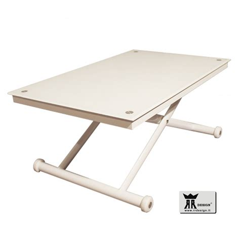 tavoli saliscendi tavolino saliscendi bianco white mod ricky della