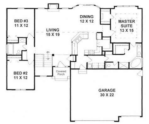 split level open floor plan open concept split bedroom house plans google search