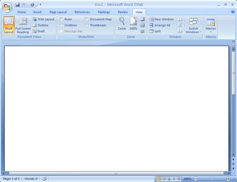 Print Layout View Word 2007 | word 2007 view modes document view 171 editing 171 microsoft