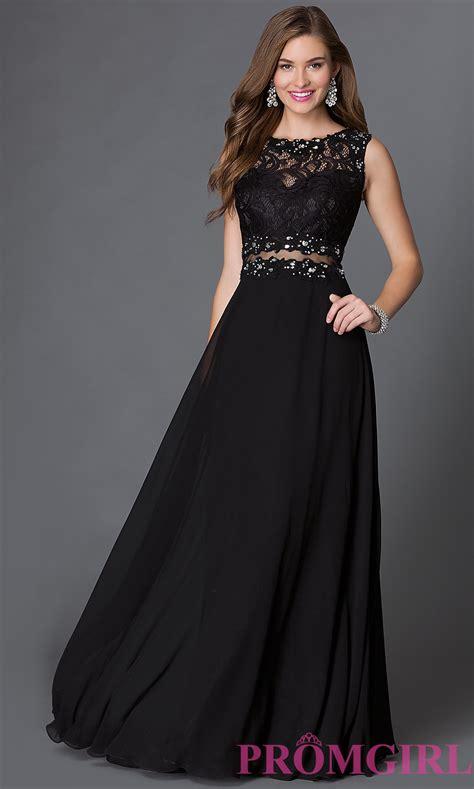 mock two floor length prom dress promgirl