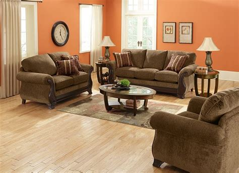 What Color Goes With Brown Furniture by Living With Color Orange This Lovely Home