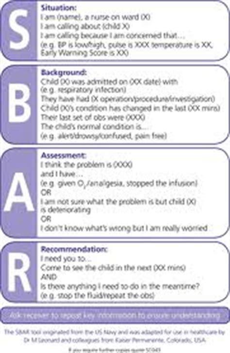 Sbar Communication Sbar Communication Tool Template