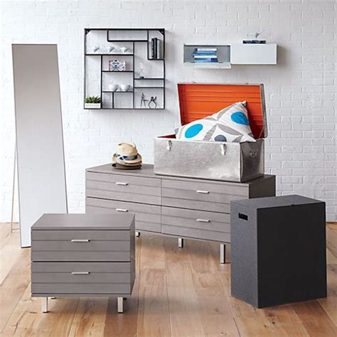 Cb2 Dresser by Concrete Low Dresser In Storage Cb2 Home Colors Felt And Standing Mirror