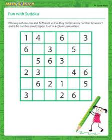 fun with sudoku sudoku worksheet for 4th grade math