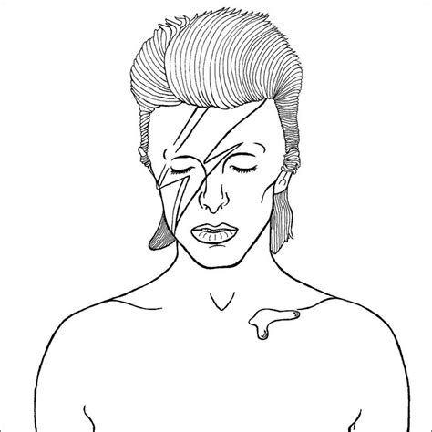 King David Outline by Bowie 2 Colouring Book Patterns Search And Ziggy Stardust David Bowie