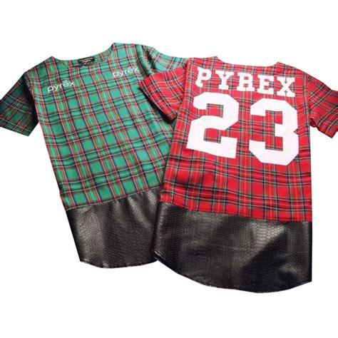 Supplier Hq Tartan Top By Adieva side zipper plaid high quality look hip hop hiphop skakeboard streetwear swag tshirt