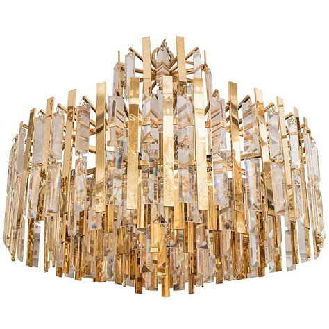Brass Suspended Prism Chandelier At 1stdibs Chandelier Prism