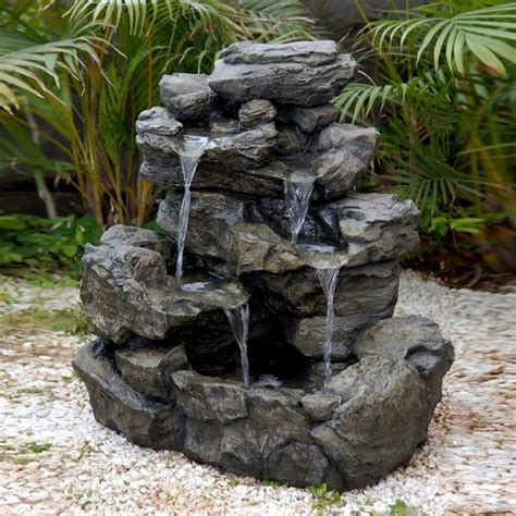 home made garden fountain home design inside