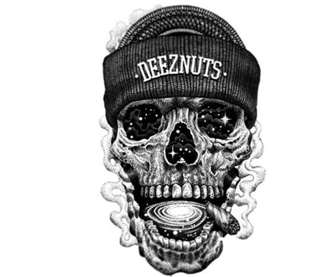 deez nuts tattoo deeznuts space skull drawing by sneaky studios no 1230