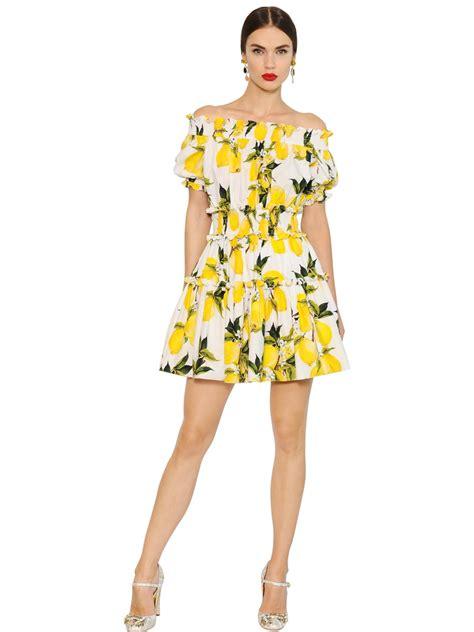 Dres Gabbana Dolce lyst dolce gabbana lemon printed cotton poplin dress
