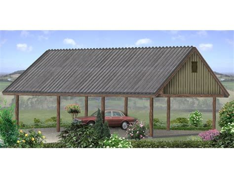 3 Car Carport Plans by Carport Plans 3 Car Carport Plan With 9 Ceiling 006g