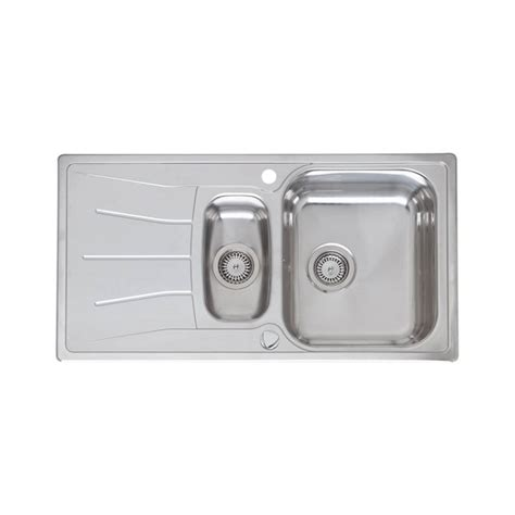 inset stainless steel kitchen sinks reginox comfort diplomat 1 5 stainless steel inset kitchen