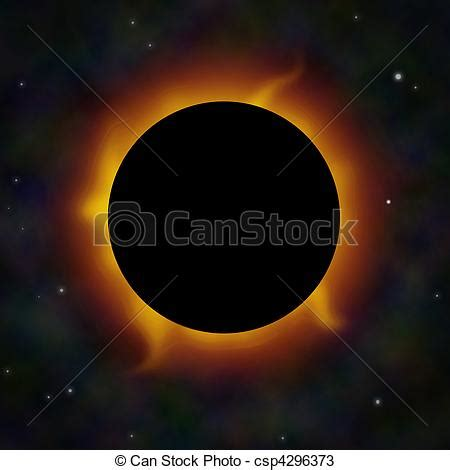 stock photos of a solar eclipse with solar flares in space