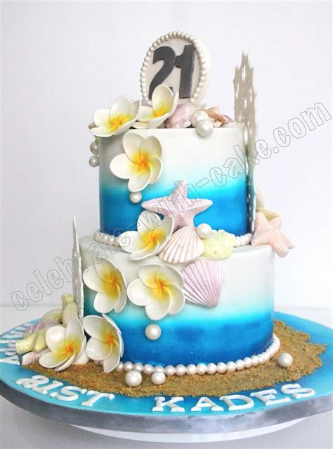 beach themed birthday cakes celebrate with cake beach themed cake