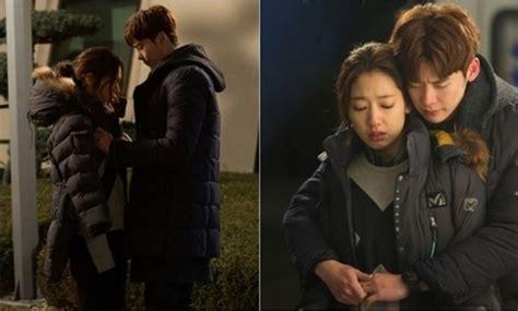 lee jong suk and park shin hye film lee jong suk gives park shin hye a warm hug from behind in