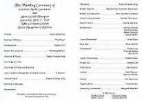 vow renewal ceremony program wedding ceremony programs