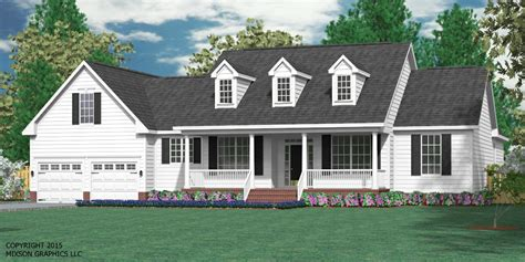 Story And A Half Floor Plans Houseplans Biz House Plan 2248 B The Britton B