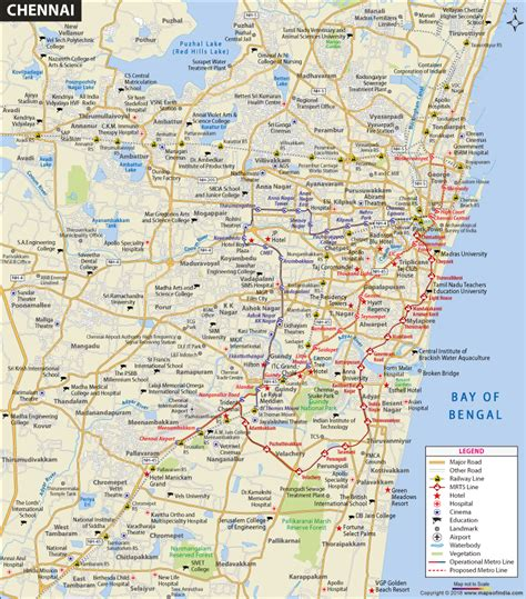 political map of chennai chennai city map and travel information and guide