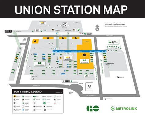 chicago union station map union station map my