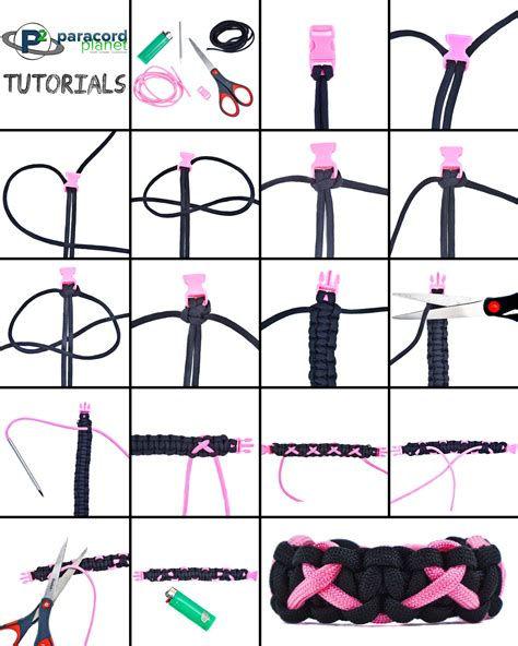 printable paracord instructions breast cancer awareness