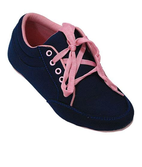affordable notable navy blue and pink casual shoes price