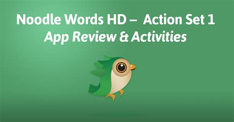 L Words For App Review by Noodle Words Hd Set 1 App Review Activities