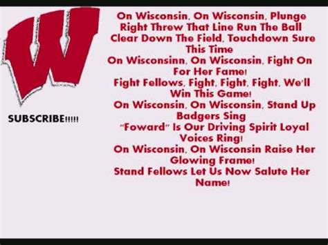 song on wisconsin fight song