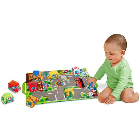 Take Mat by Take Along Town Play Mat With 9 Soft Vehicles Set