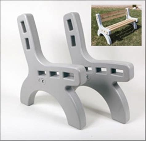 concrete bench ends park bench ends indoor outdoor picnic 2x4 diy chair any