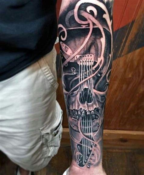 tattoo gun guitar string pin by submissivenes on tattoo forearm przedramię