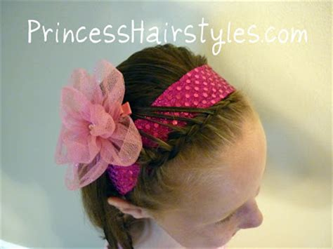 quick easy princess roll with hairband simple and fancy headband hairstyles for girls