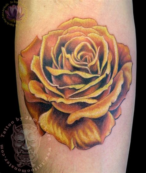 rose tattoo on calf 28 best yellow tattoos