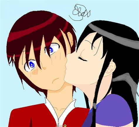 anime cheek kiss kiss on the cheek anime by epicpurple28 on deviantart