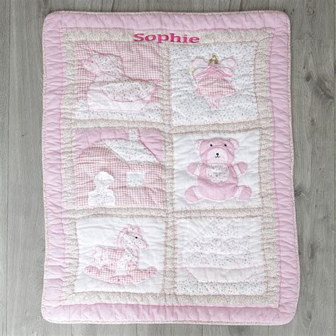 Patchwork Quilt For Baby - personalised patchwork baby quilt by my 1st years