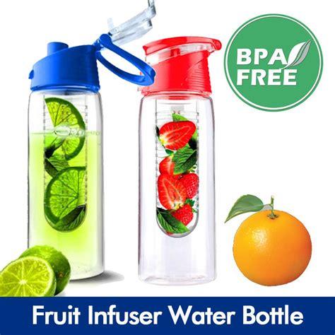 Botol Minum Infuser Bpa Free T1910 6 portable fruit infuser water bottle sports water bottle