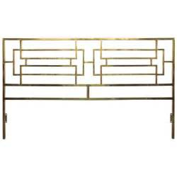 mid century brass king size headboard possibly
