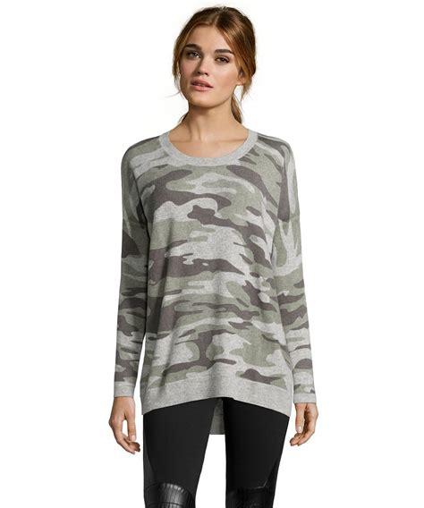 Sweater Camo hayden women s grey and green camouflage crewneck