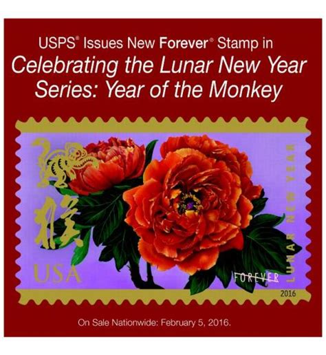 usps new year sts monkey back cover