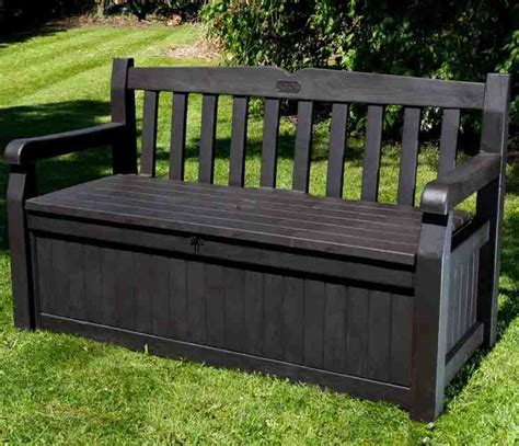 outdoor wooden bench with storage 17 best ideas about outdoor storage benches on pinterest
