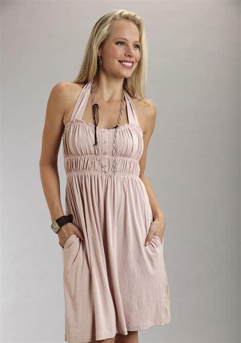 Ws Size 6 27rb Spandex Rayon stetson 174 pink rayon spandex halter western dress