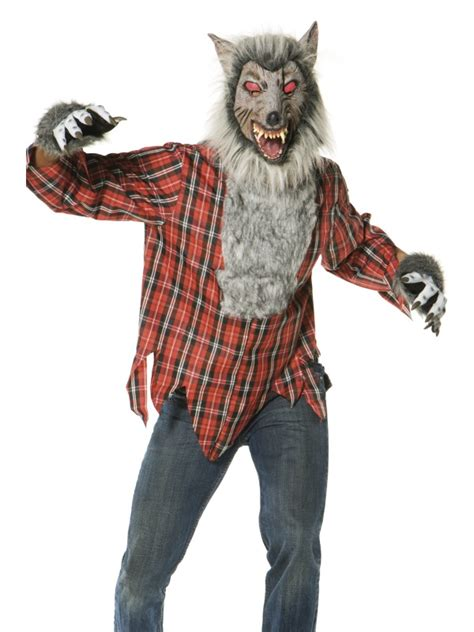 werewolf costume for adults fancy dress at halloween fanc3486