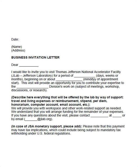 business appointment letter template 51 sle appointment letters