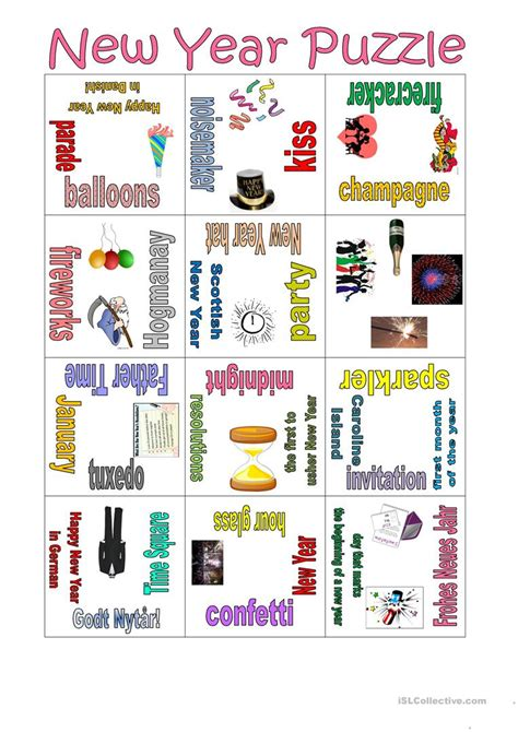 new year activities for esl students puzzle new year worksheet free esl printable worksheets