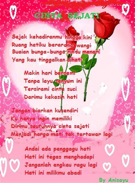 puisi cinta  anisayu puisi cinta