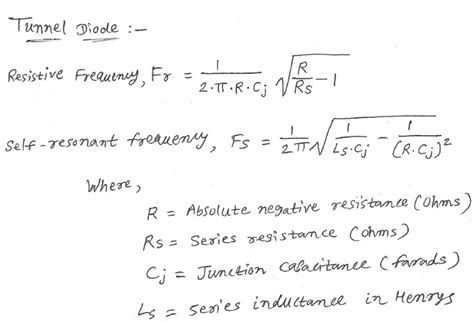 tunneling diode equation tunnel diode calculator converters and calculators