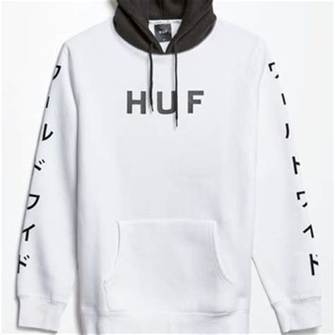 Hoodie Sweater Huf huf white pack world pullover hoodie from pacsun epic