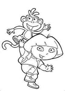 coloring pages boots the monkey kolorowanka dora z butkiem kolorowanki dla dzieci do druku