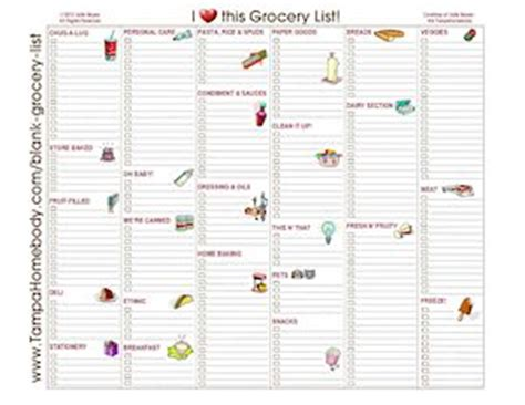 printable blank grocery list with categories grocery lists ta homebody
